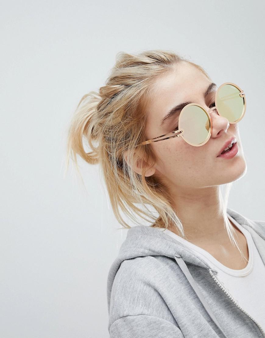 2fe3613824071 Quay Ukiyo Round Lens Sunglasses in Metallic - Lyst
