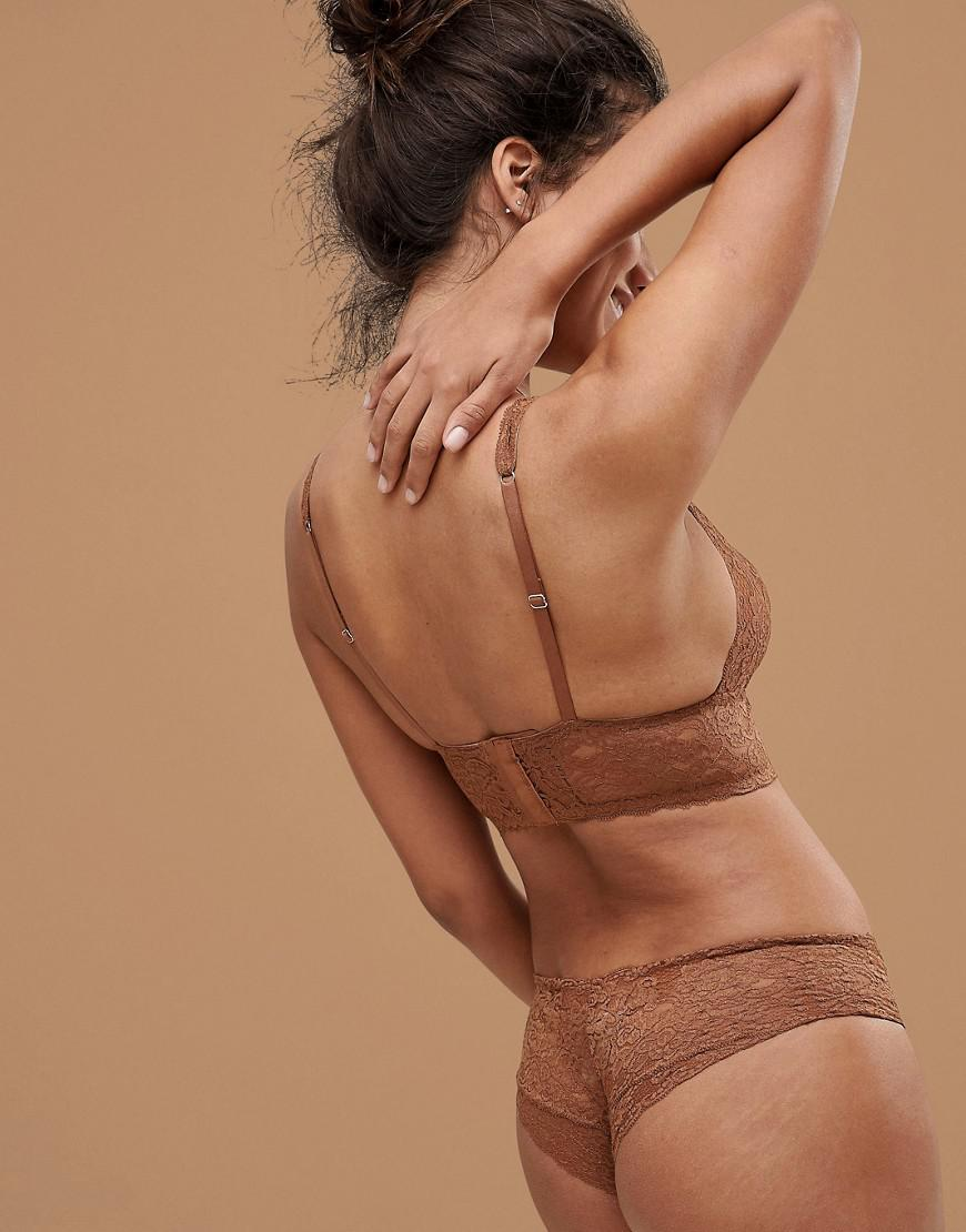 d244c5a86d409 DORINA Tone On Tone Lana Nude Non Padded Bralette In Medium in Brown - Lyst