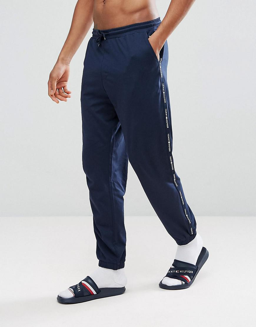 7263fac1994 Tommy Hilfiger Cuffed Joggers Side Logo Tape In Navy in Blue for Men ...