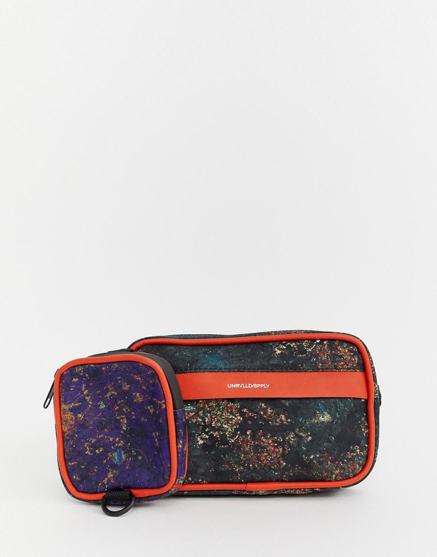 129390ab08f Lyst - ASOS Bum Bag With Multi Pockets In Multi Print for Men
