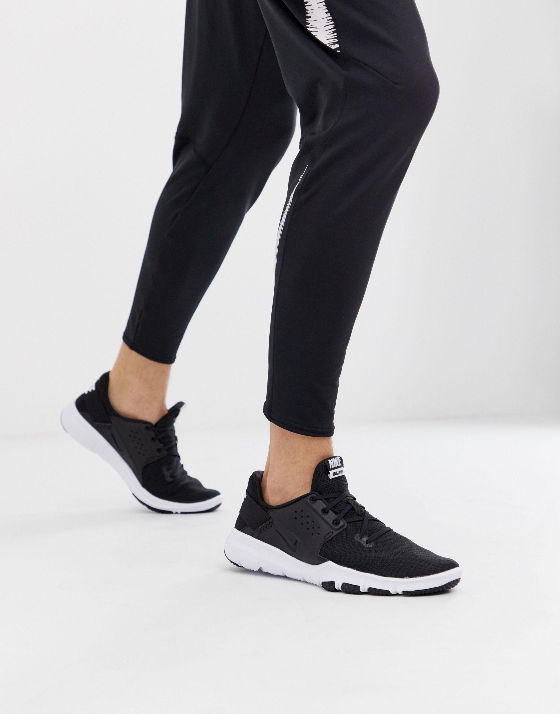 Zapatillas negras Flex Control Nike de color Negro