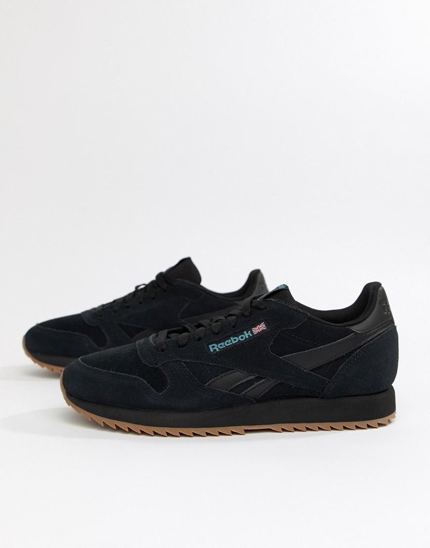 7a5f2fe95 Zapatillas de deporte de ante con ranurado en negro CL MU Triple de ...