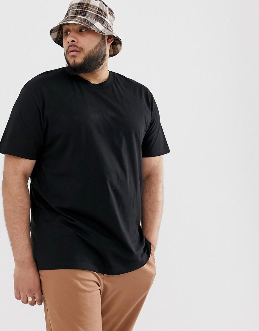 ASOS Katoen Plus - Ruimvallend T-shirt Met Mystieke Print Aan in het Zwart voor heren