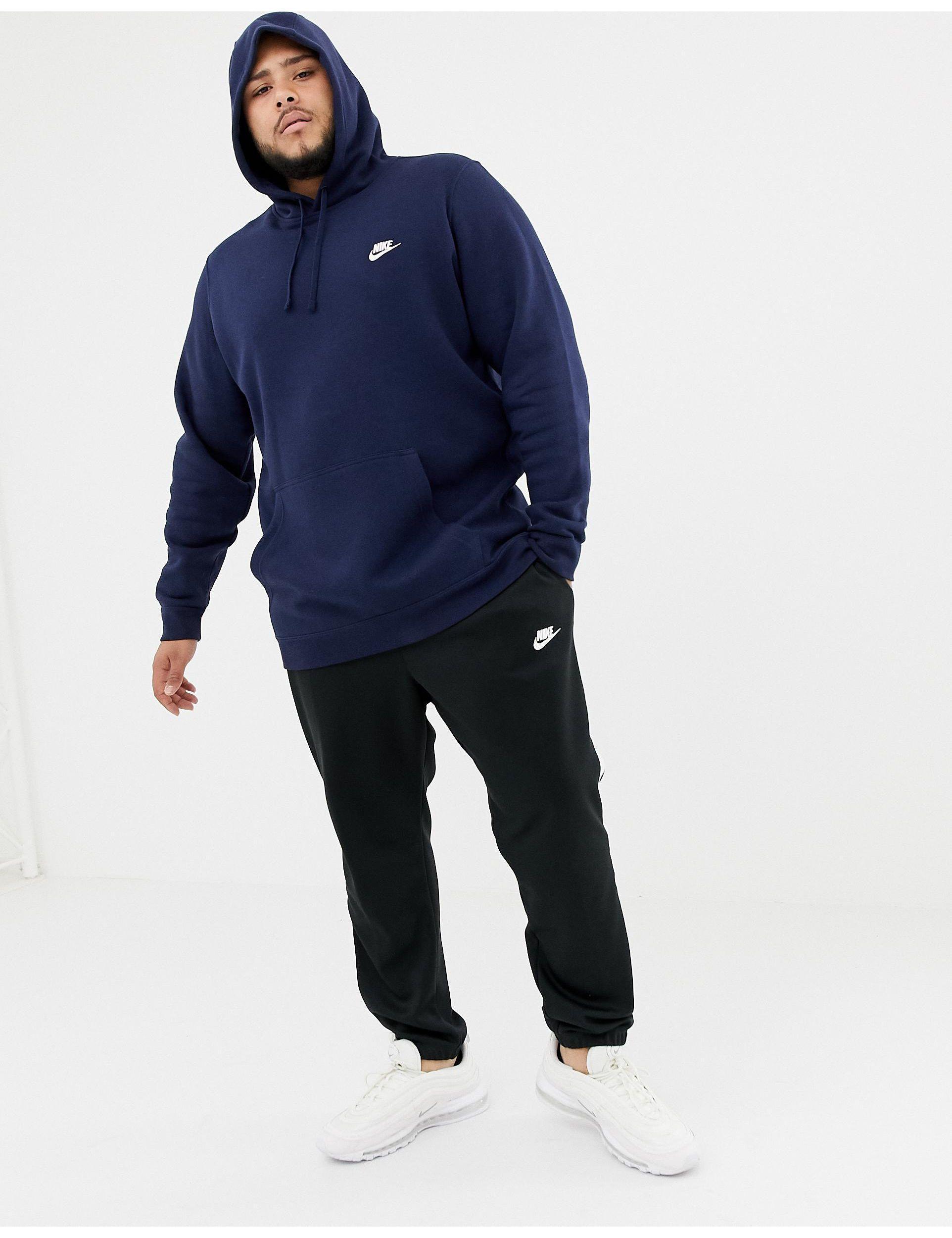 Nike Plus - Club - Hoodie Met Swoosh-logo in het Blauw voor heren