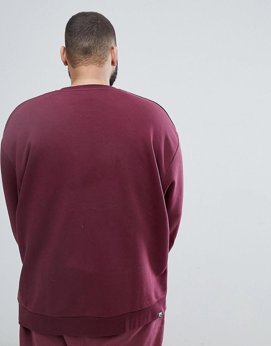 Sweat shirt style vintage avec logo en tissu ponge PUMA pour homme en coloris Red
