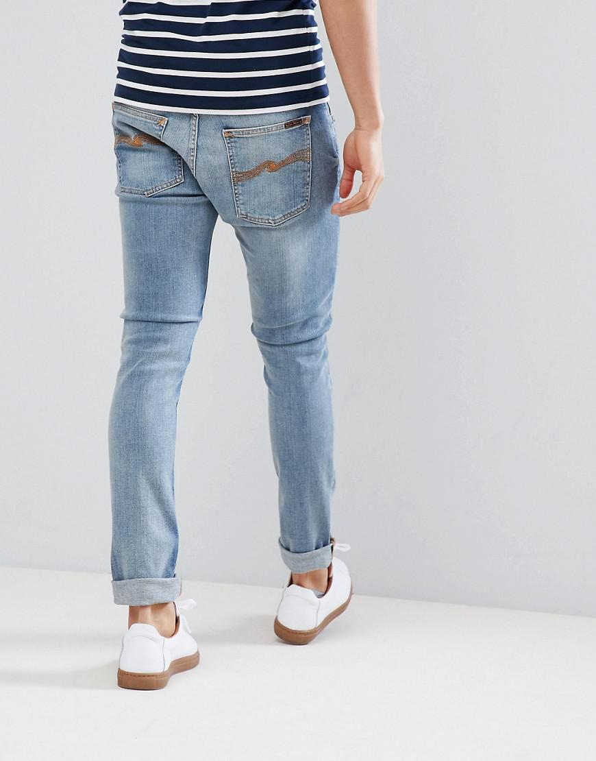 Nudie Jeans Denim Co Tight Terry Jeans Subtle Beat in Blue for Men