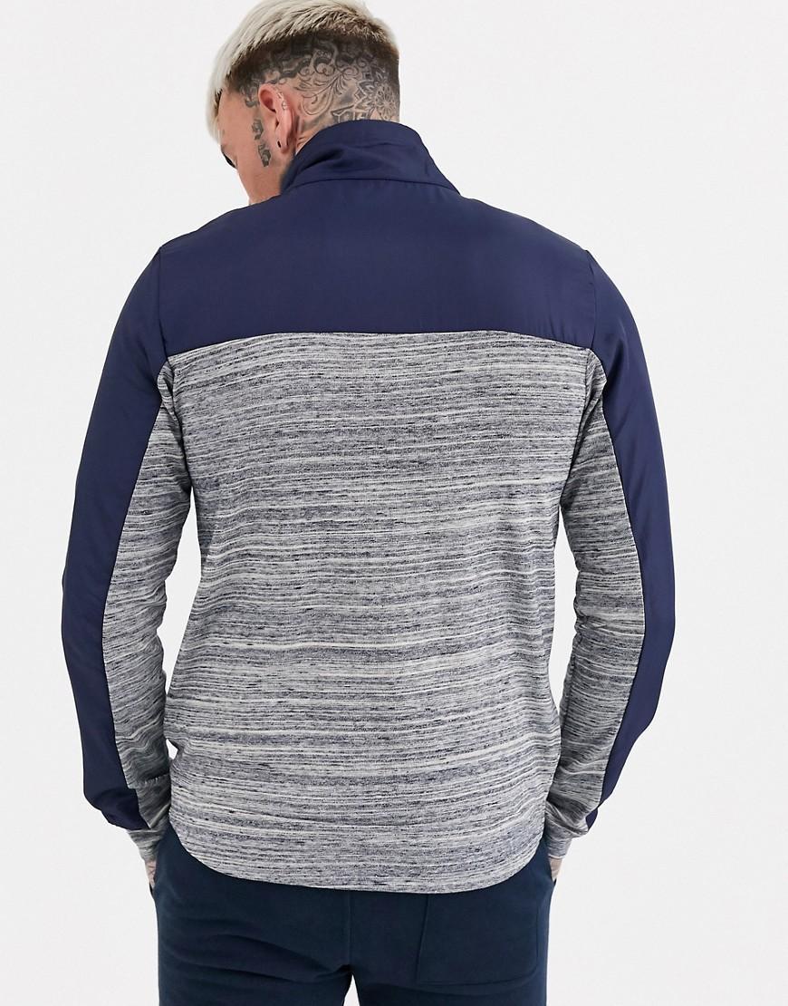 Kappa Katoen Samassi - Sweater Met Rits in het Grijs voor heren