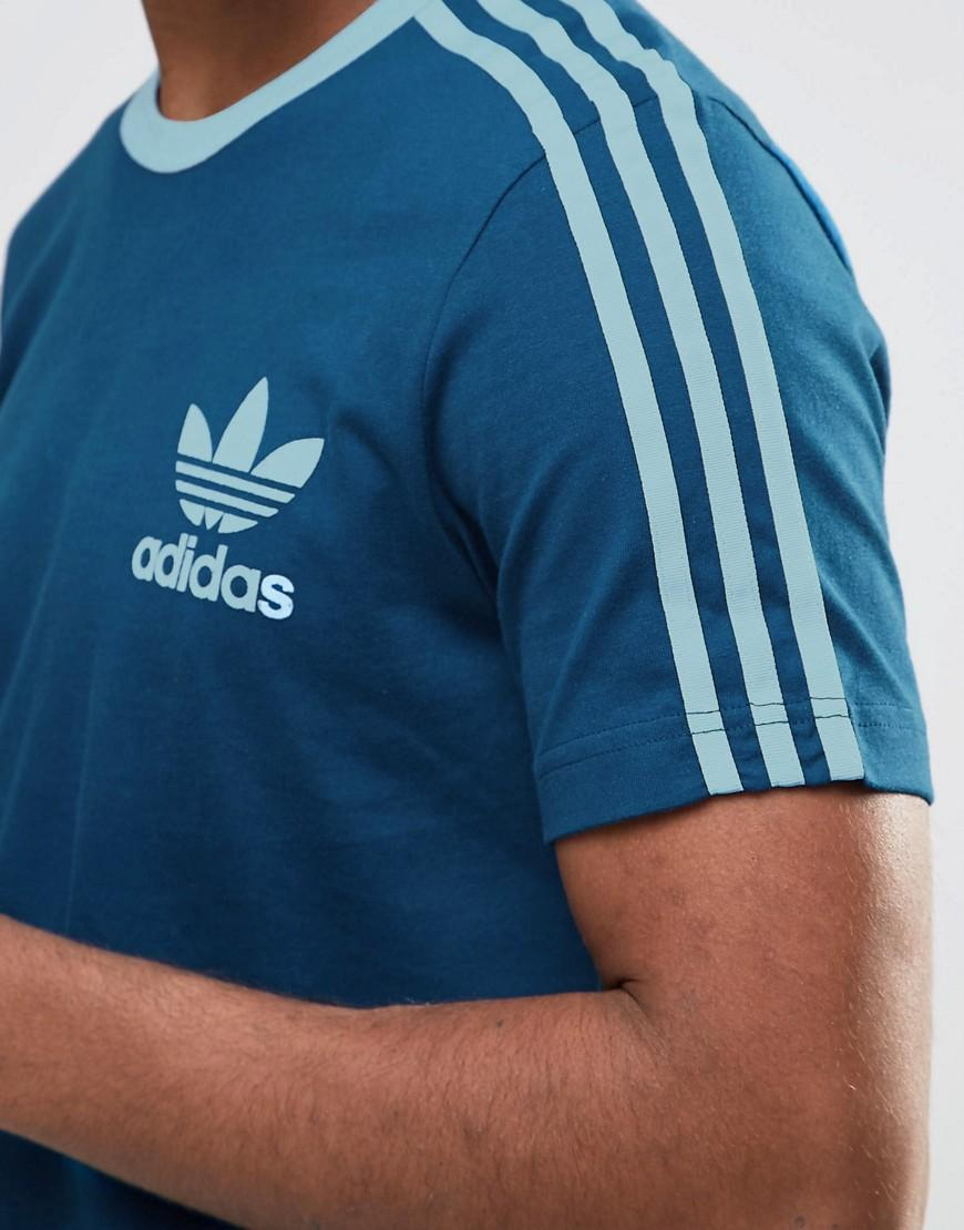 adidas originals adicolor t shirt in blue b10654 in blue