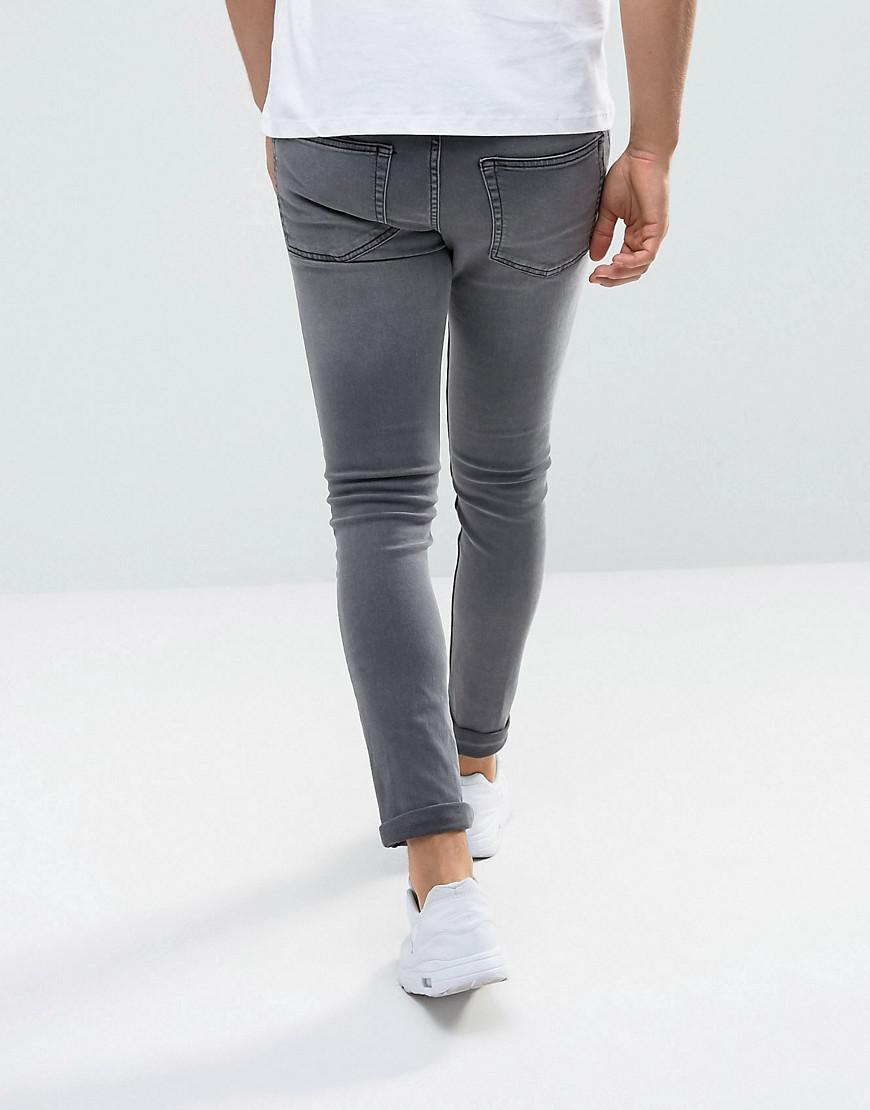 New Look Denim Skinny Jeans In Gray Wash for Men