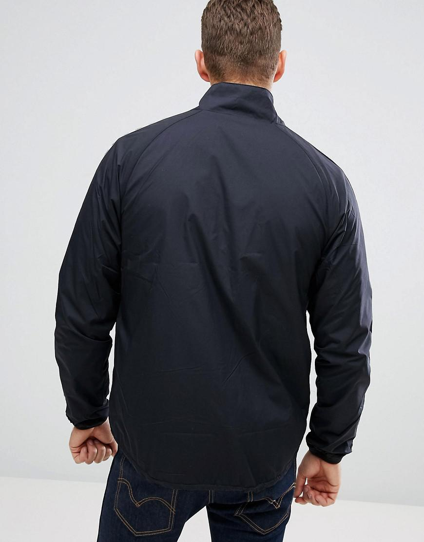 Fred Perry Synthetic Sports Authentic Taped Sports Jacket In Black for Men