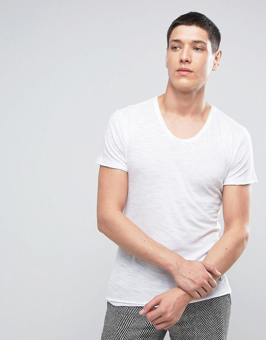 Casual friday t shirt in white for men lyst for Casual white t shirt