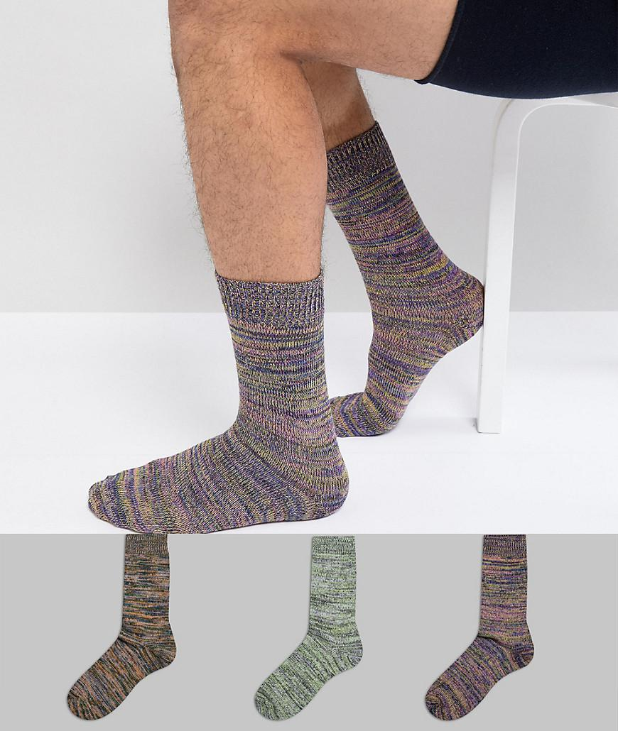 Textured Socks In Multicoloured Nep 3 Pack - Multi Asos Low Shipping Fee Sale Purchase Cheap Sale Comfortable jMAJPoQkfN