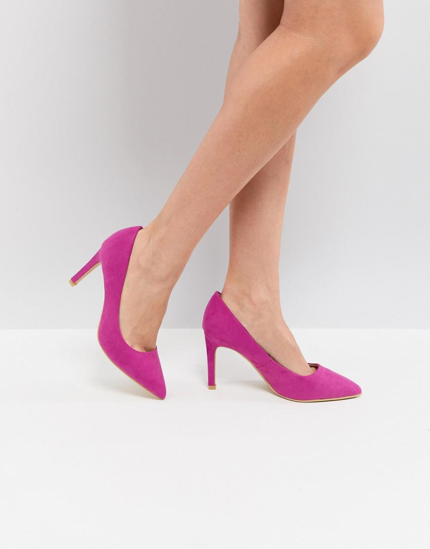 Pimkie Denim Fuschia Court Shoe in Pink