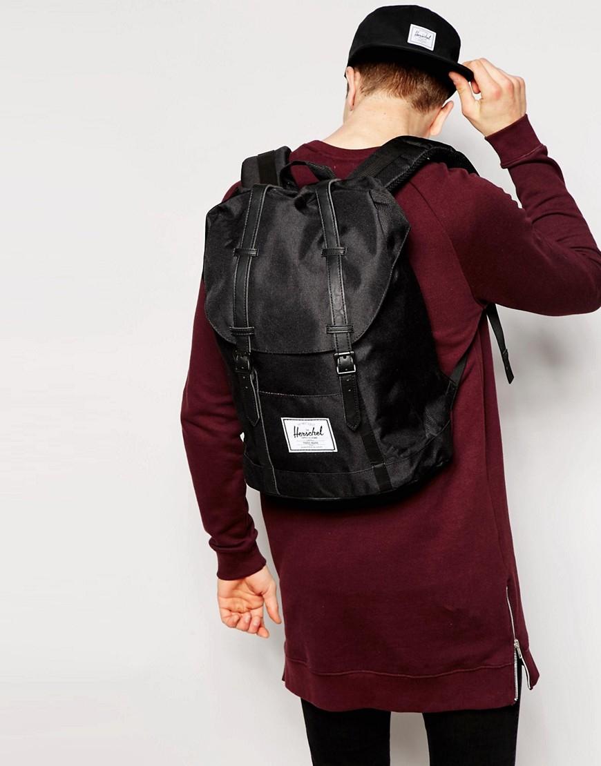 Lyst - Herschel Supply Co. Retreat Backpack In Black 19l in Black for Men a3d7106ab1