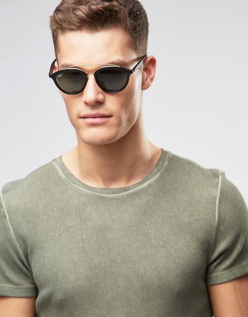 Round 0rb4257 Ban Men For Sunglasses Black Ray tChQdsr