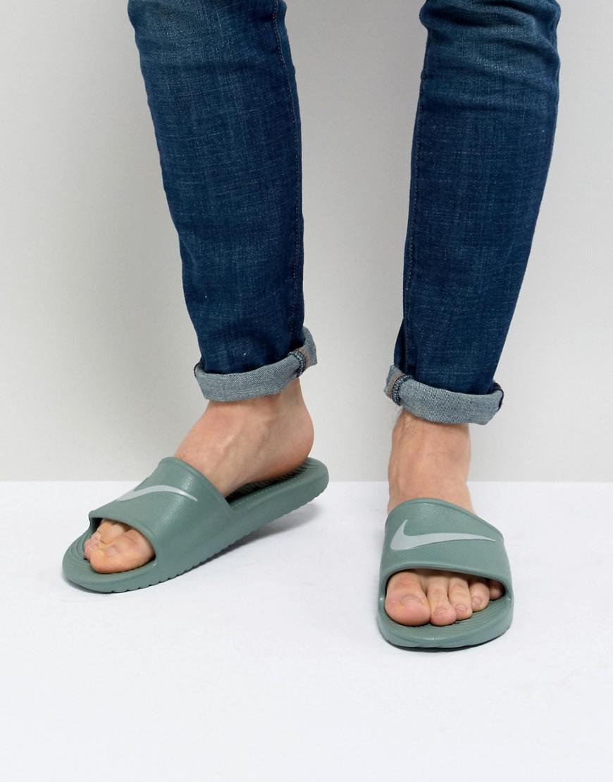 Nike Kawa Sliders In Green 832528-301 with credit card free shipping g66emZrSl