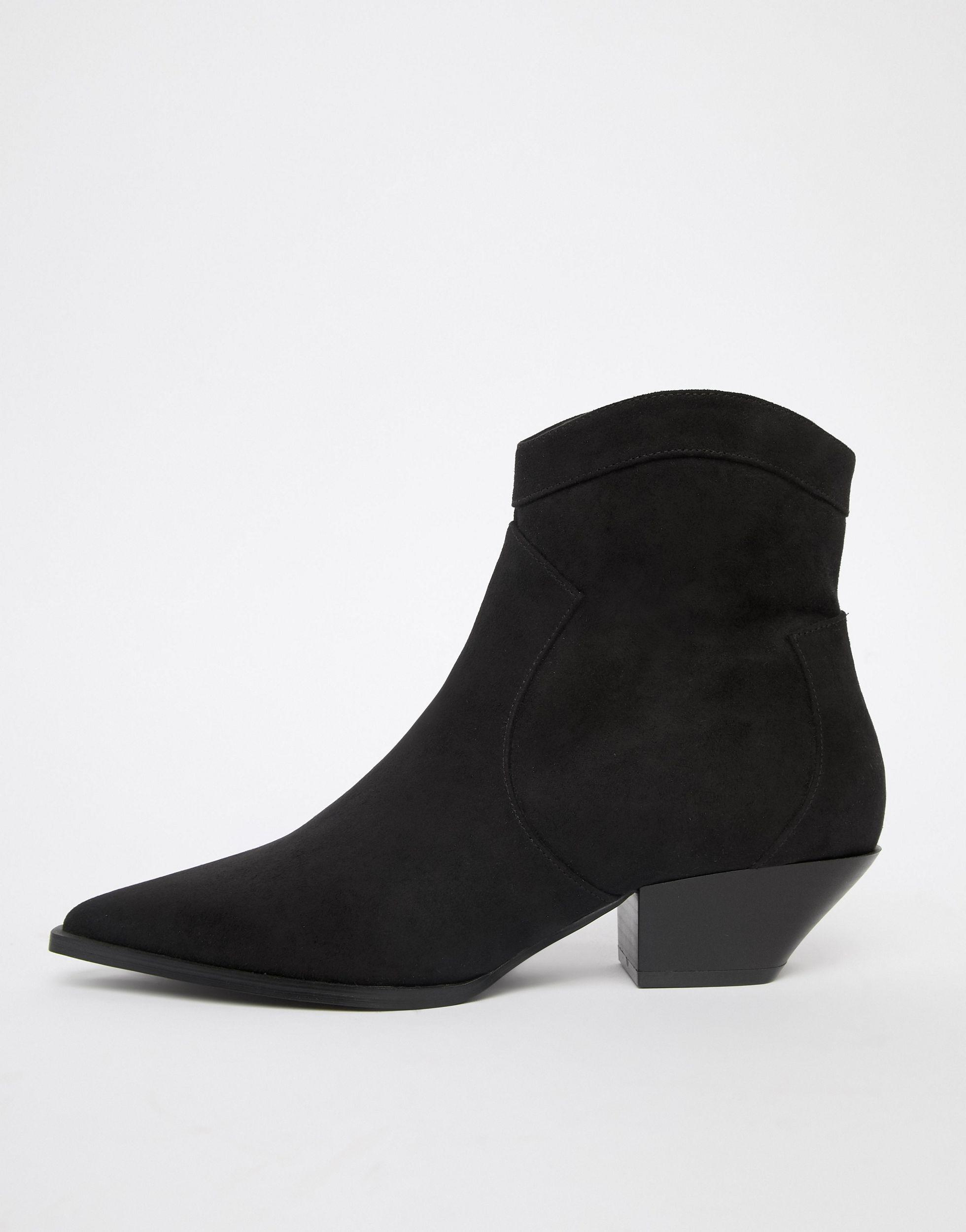 Botines estilo western Annie ASOS de Denim de color Negro