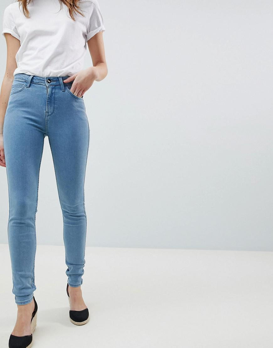 5c767f4b Lee Jeans Scarlett High Waisted Skinny Jean in Blue - Lyst