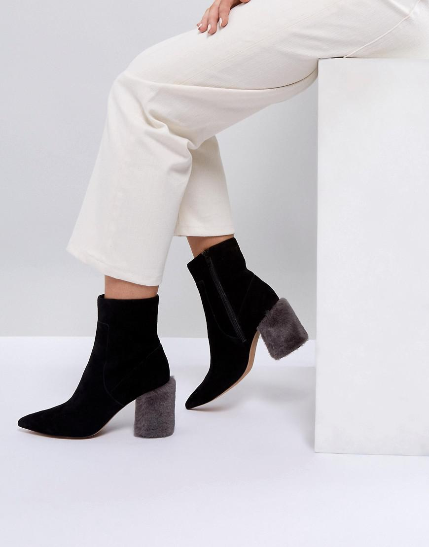 Dahlia Black Heeled Shoes