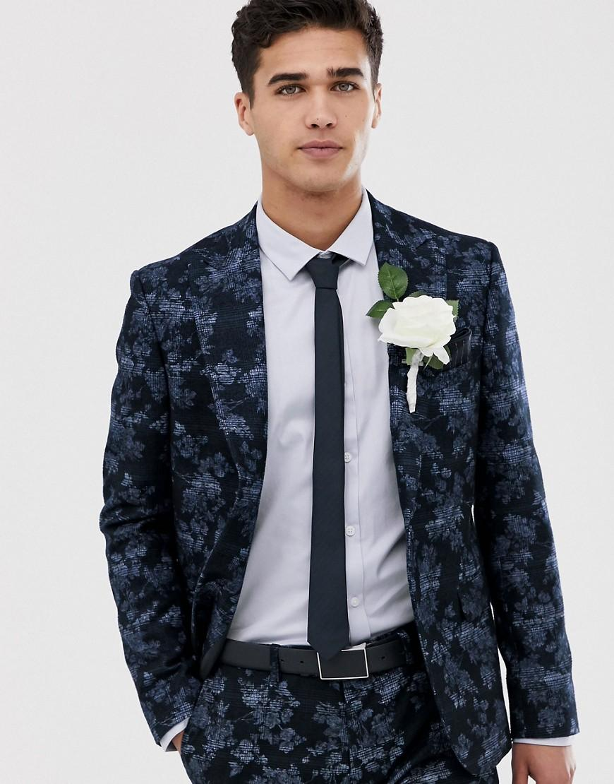 Moss Bros Moss London Slim Fit Suit Jacket With Floral ...