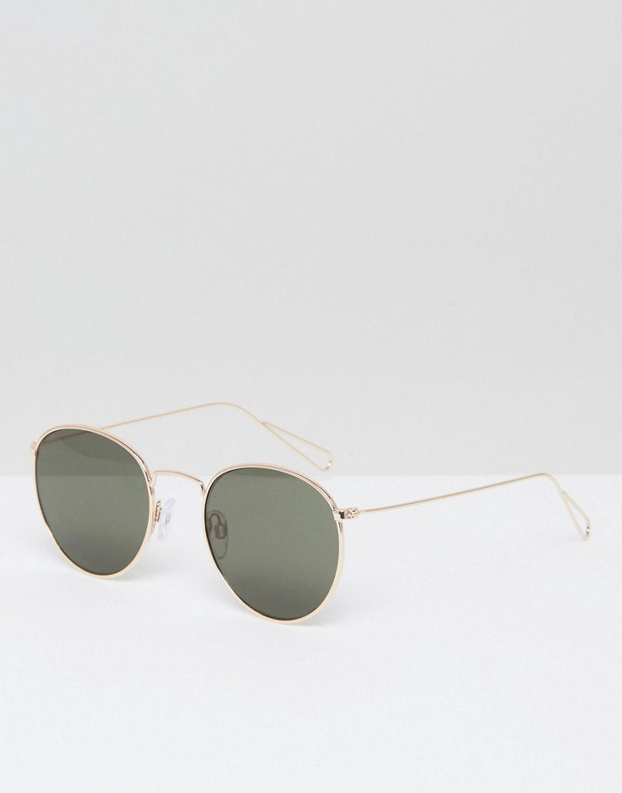 5ca3e2ef2f Weekday Explore Round Sunglasses in Metallic for Men - Lyst
