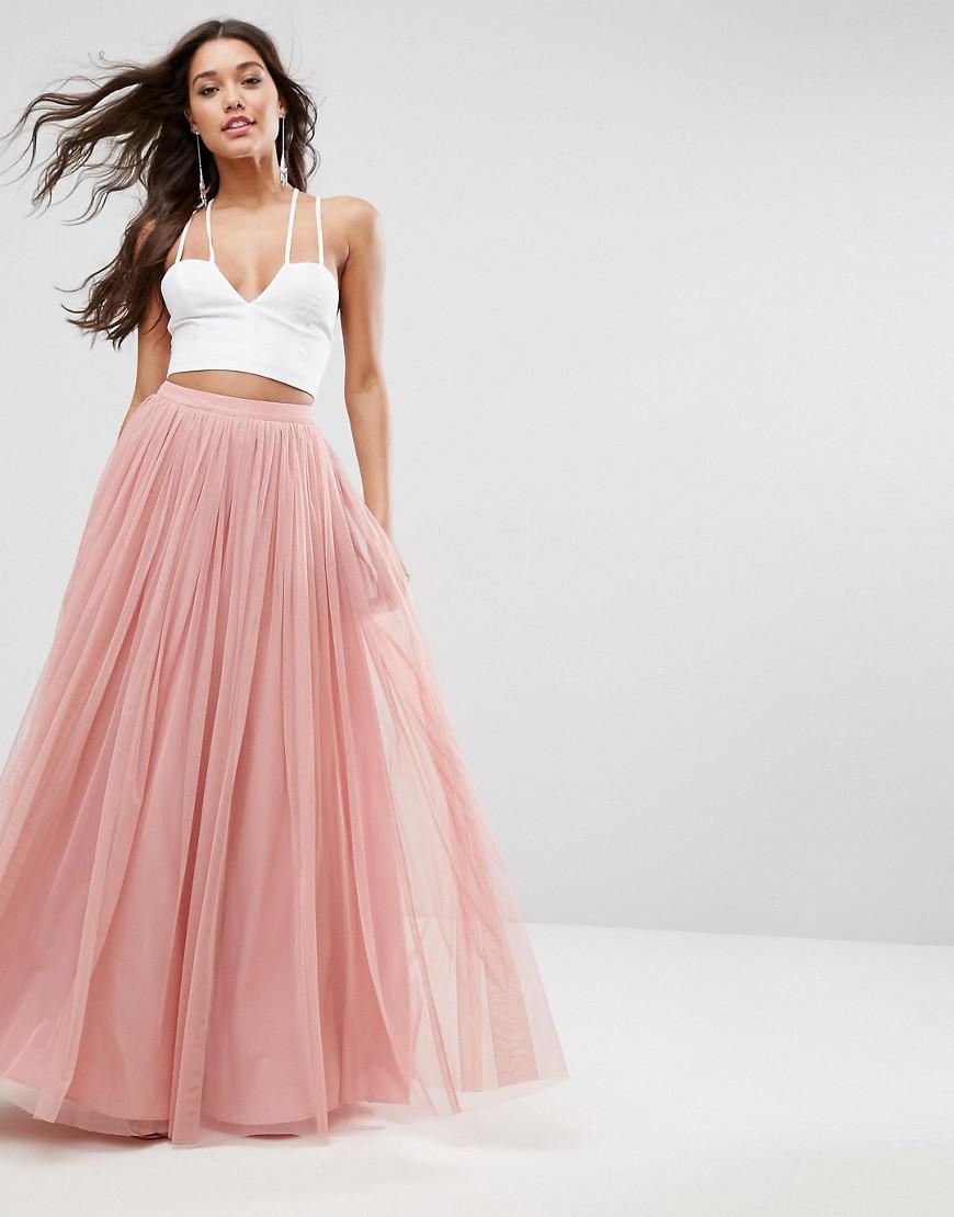 99a737eaf13e86 Jupe longue de bal de promo en tulle ASOS en coloris Pink