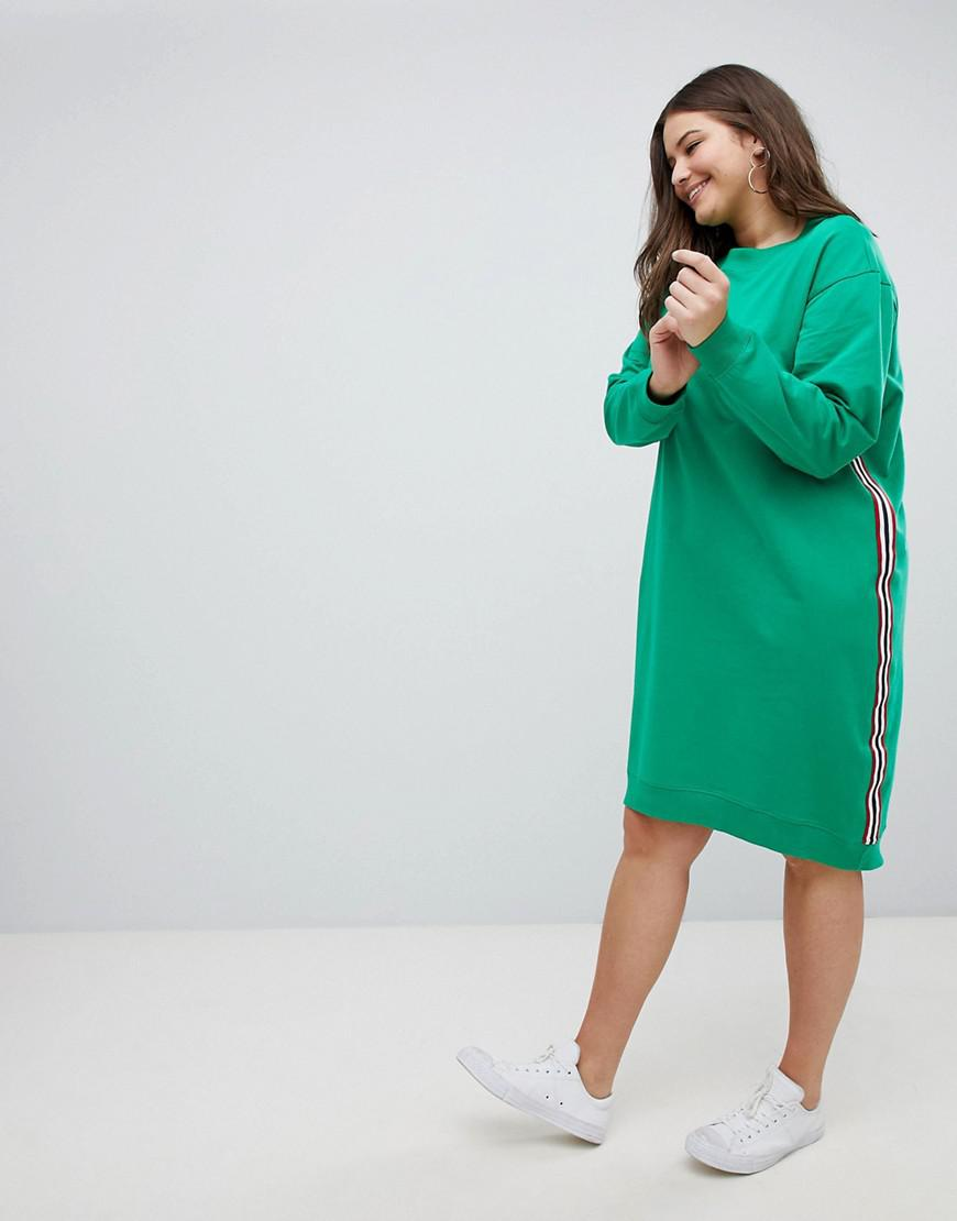 ASOS ASOS DESIGN Curve midi sweat dress with side stripe For Sale Footlocker Collections For Sale Clearance Sale Sale 2018 Marketable For Sale xwGLomG3jb