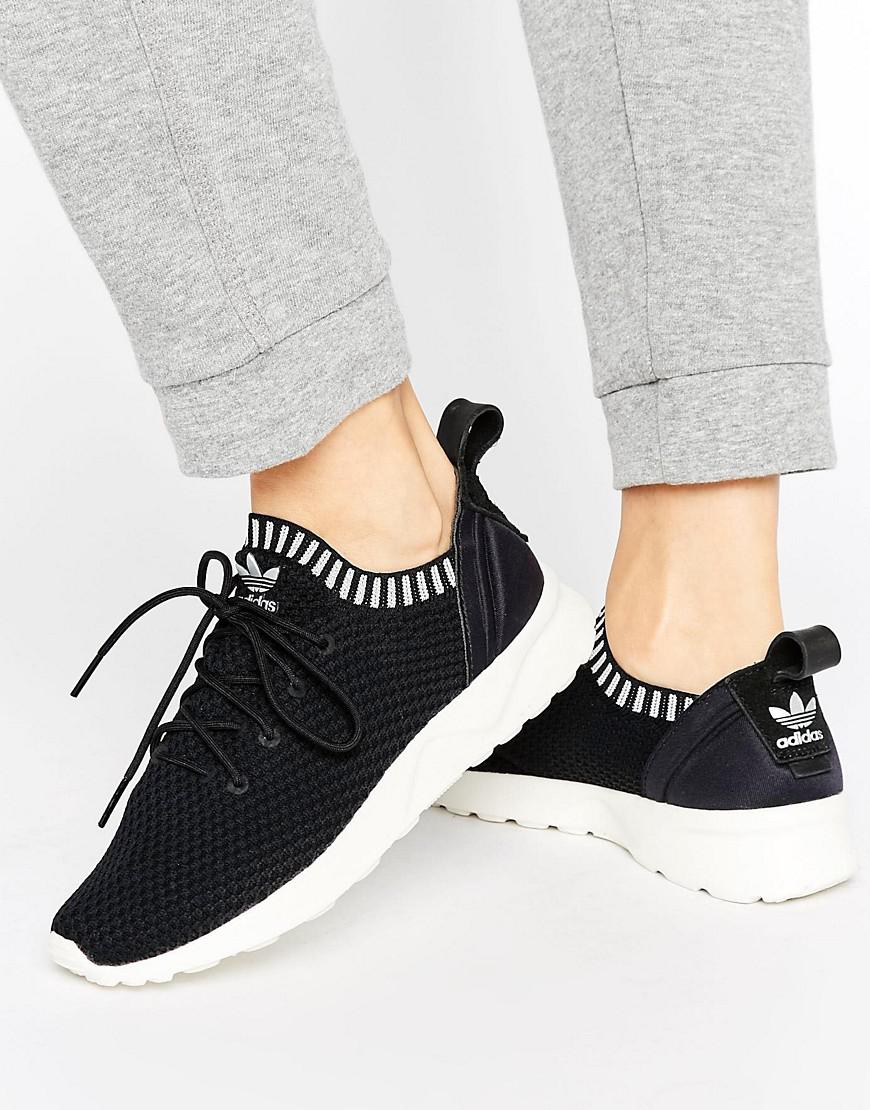 454f6113dc95d adidas Originals Zx Flux Adv Virtue Performance Sneakers in Black - Lyst