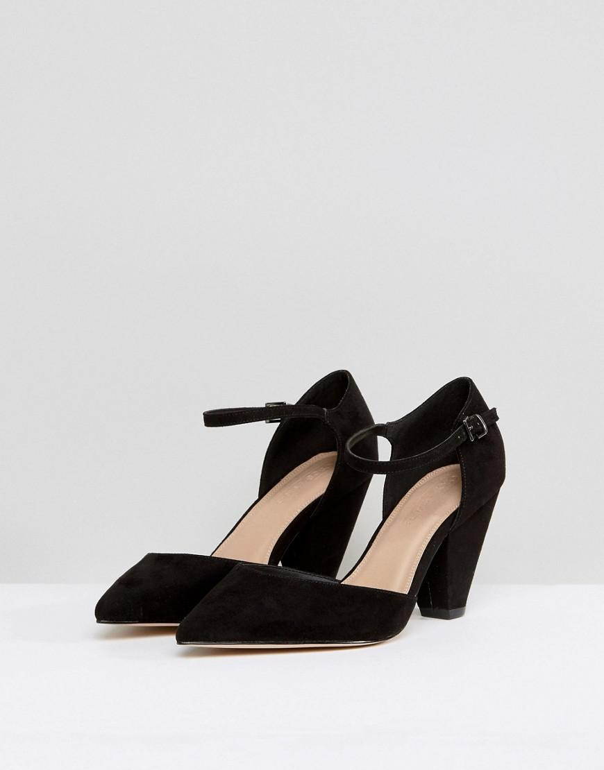 26dfc856e9ae ASOS Wide Fit Speaker Pointed Heels in Black - Lyst