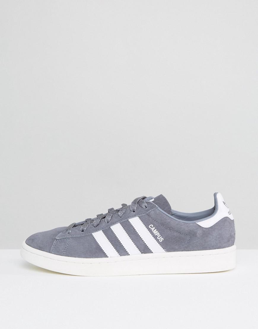 adidas Originals Suede Campus Sneakers In Grey Ba7535 in Grey for Men