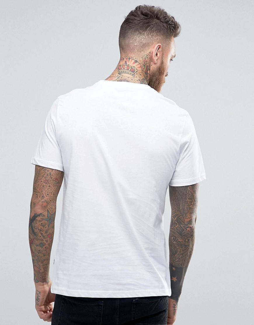 29c9e9a9063e5b Lyst - Converse Chuck Logo T-shirt In White 10002850-a01 in White ...