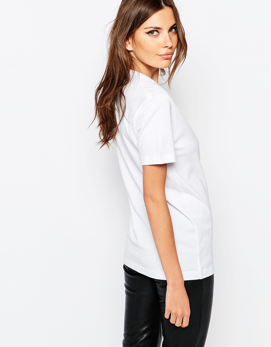 Lyst french connection fcuk t shirt white in white for French connection t shirt dress