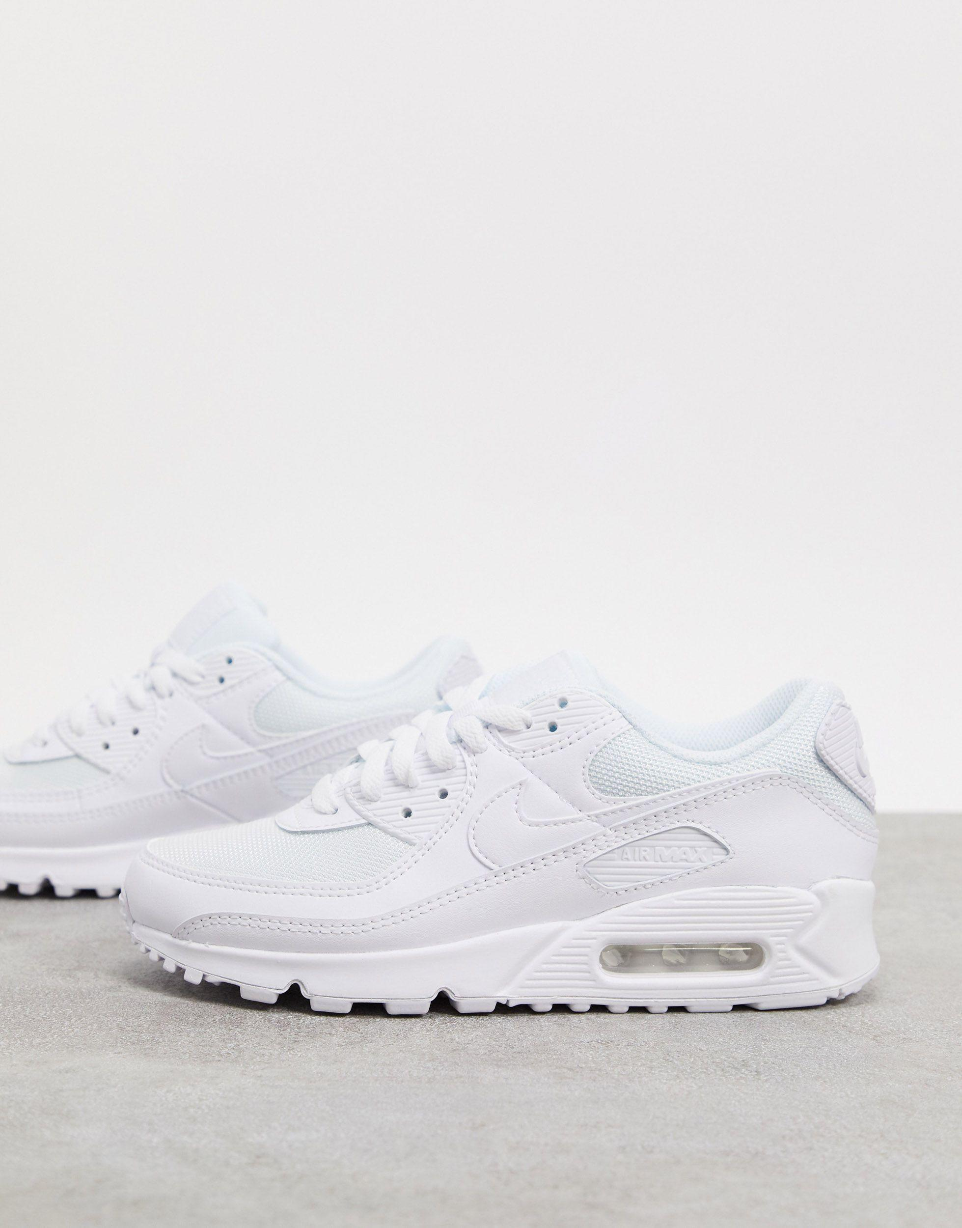 Nike Rubber Air Max 90 in White - Lyst