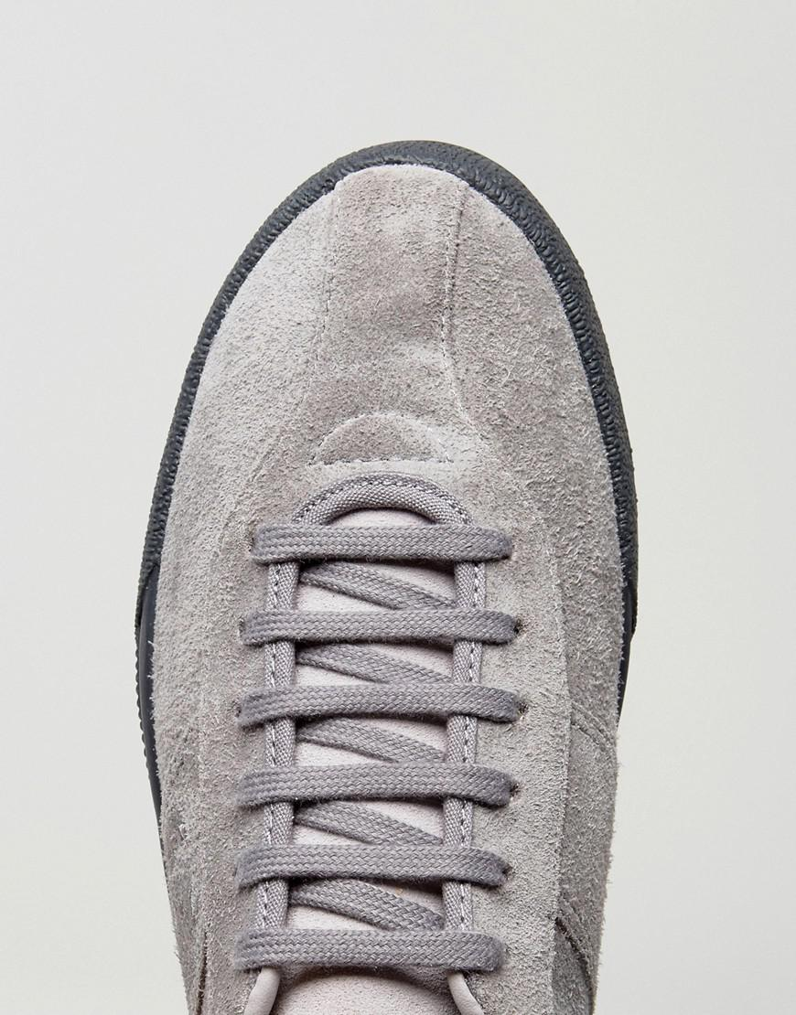 Fred Perry B1 Sports Authentic Suede Tennis Trainers In Tan in Grey (Grey)