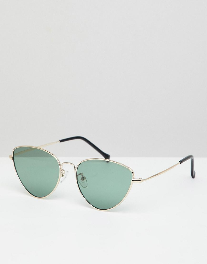 ff2e15f9a2c8 A.J. Morgan - Metallic Metal Cat Eye Sunglasses In Gold/green for Men -  Lyst. View fullscreen