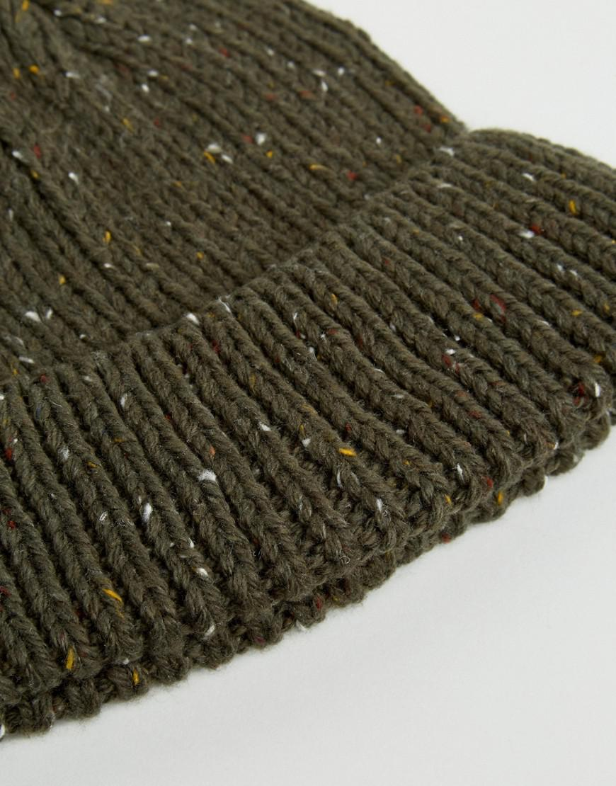 Mixed Cable Knit Beanie Hat - Green French Connection 6R67AVPD