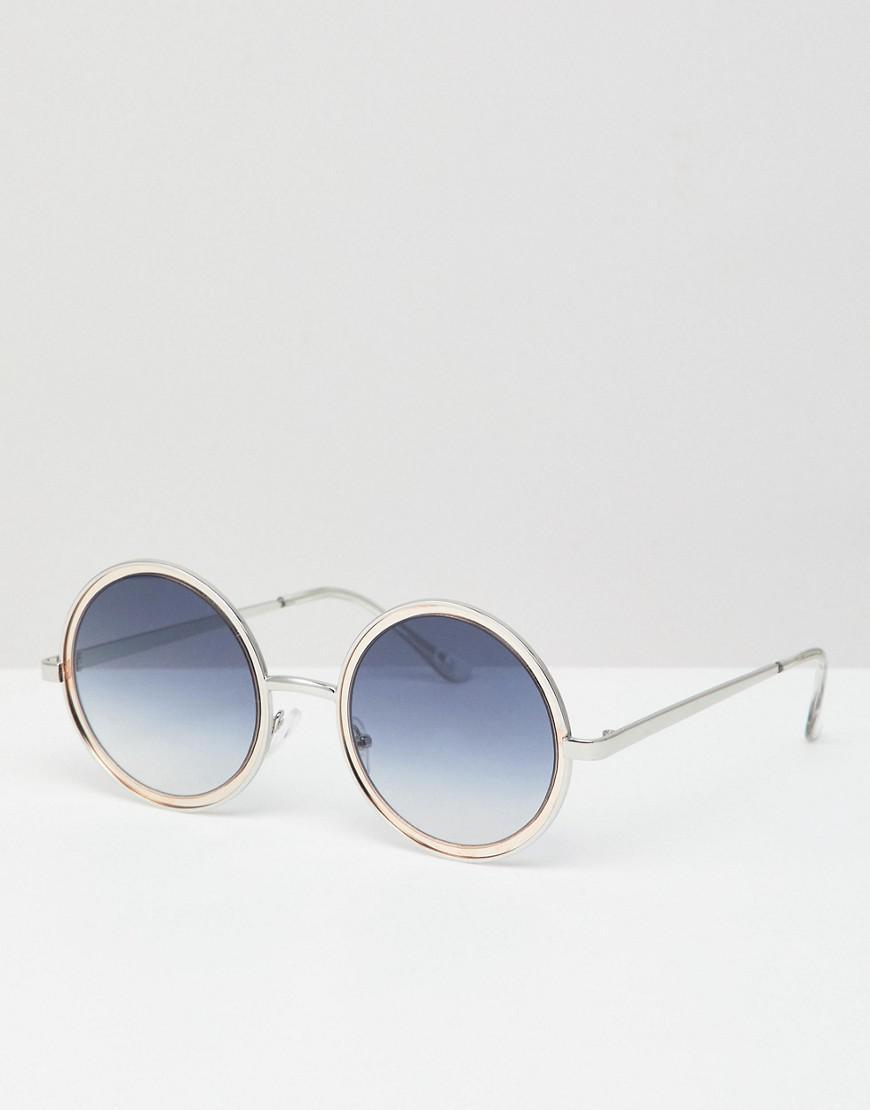 ASOS DESIGN angled cat eye sunglass in black - Noir X6OxxP