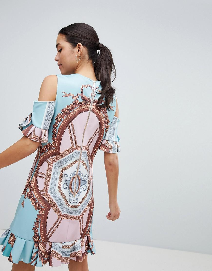 Ted Baker Norahe Frill Dress In Versailles Print