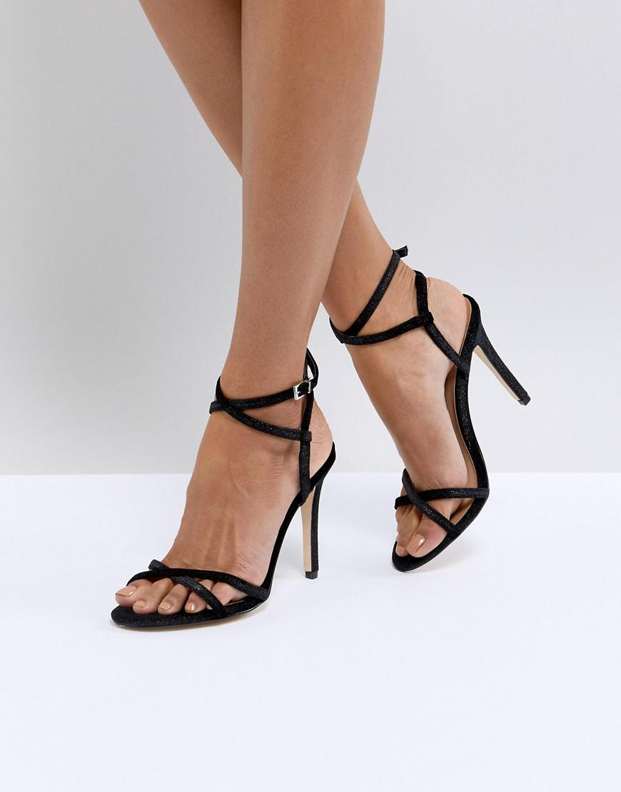 Call It Spring Fiven Strappy Barely There Heeled Sandals - Black Call It Spring tC3pRvE8SJ