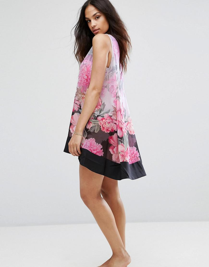 f262830b23 Ted Baker Adisonn Painted Posie Beach Cover Up - Lyst