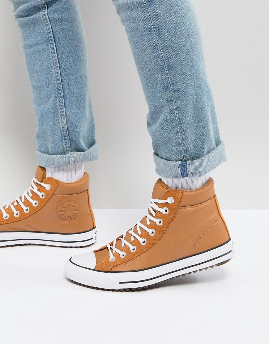 Tan Converse Boots All Street In Lyst Star Taylor Sneaker Chuck qSUzpLVGM