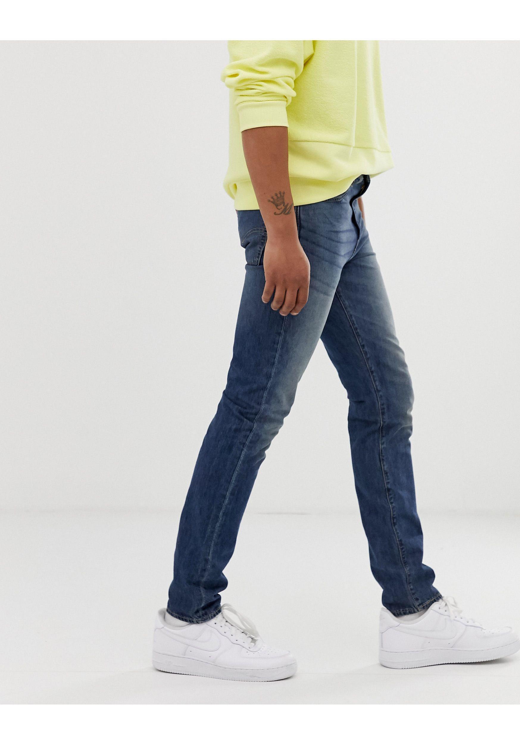 Levi's Denim 510 - Skinny-fit Jeans Met Wassing in het Blauw voor heren