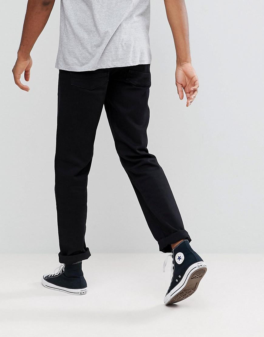 bb686096c80 Lyst - Asos Asos Tall Stretch Slim Jeans In 12.5oz True Black in Black for  Men