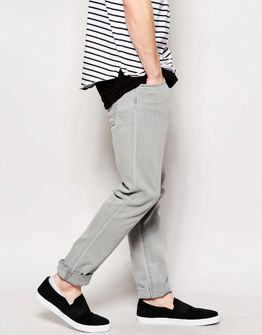 Edwin Denim Jeans Ed85 Skinny Fit Lightning Grey in Grey for Men