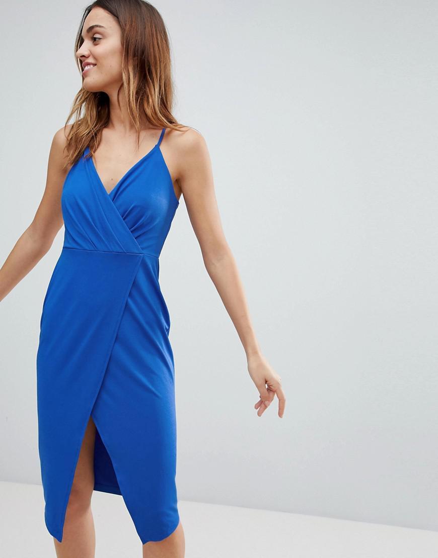 3f86c746157 Lyst - Robe portefeuille dcollet plongeant Ivyrevel en coloris Bleu