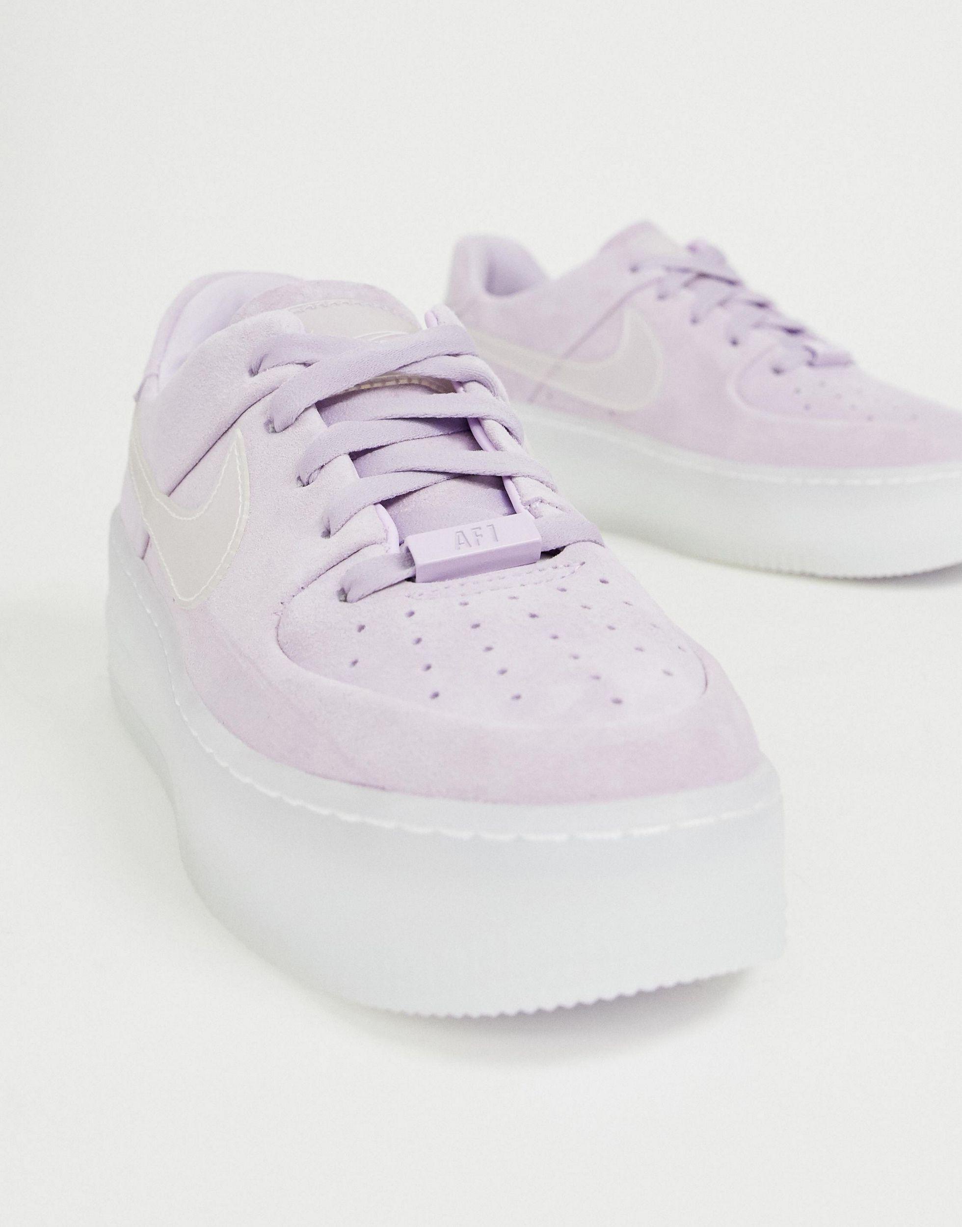 Ice Air Force 1 Sage - Baskets - Lilas Caoutchouc Nike en coloris ...