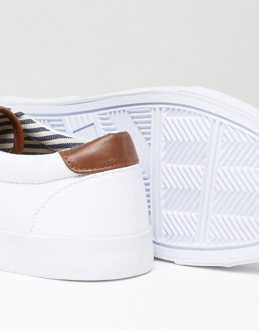 ASOS Boat Shoes In White Canvas for Men
