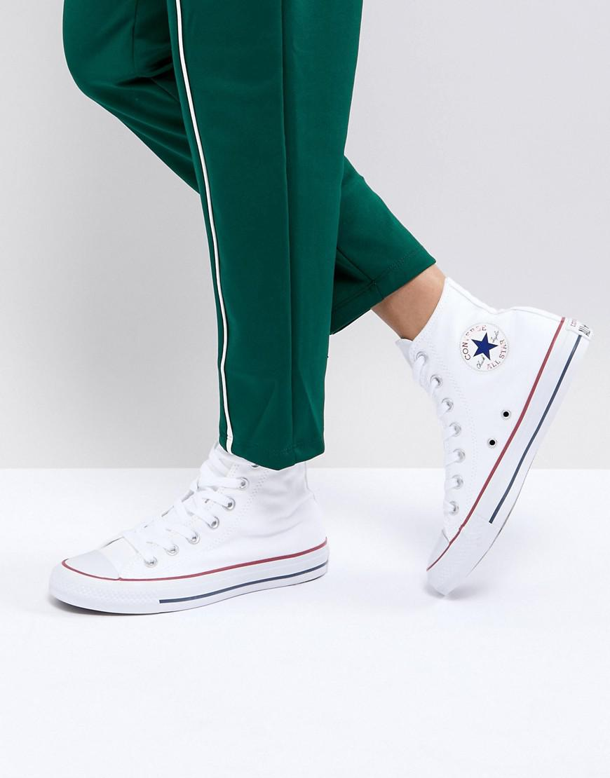 new arrival high fashion cheapest price Converse Canvas Chuck Taylor All Star Hi White Sneakers - Lyst