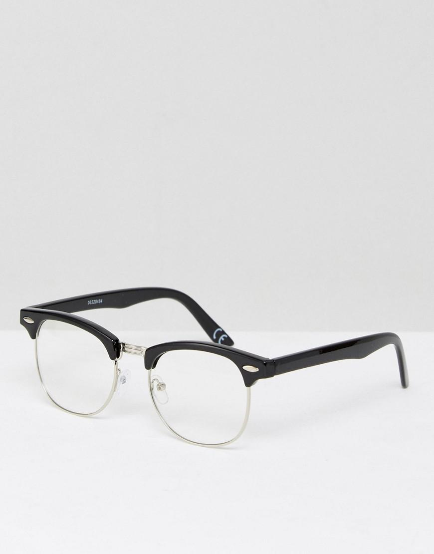 c6ef38bf93 ASOS Retro Glasses In Black With Clear Lens in Black for Men - Lyst