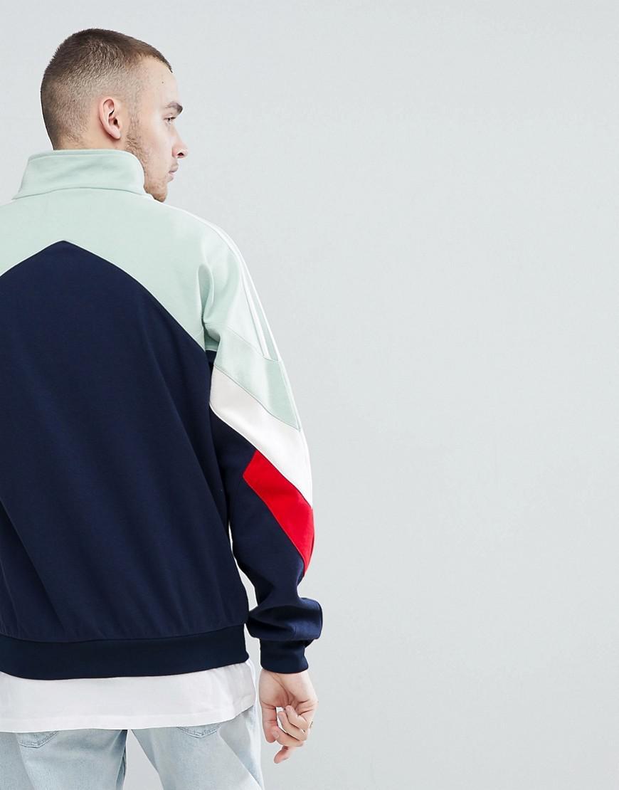 adidas Originals Vintage Track Jacket In Navy Cd6109 in Blue for Men